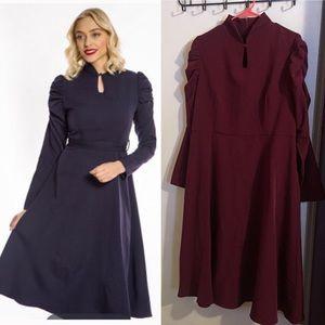 Maroon Lindy Bop dress NWT US 16 UK 20